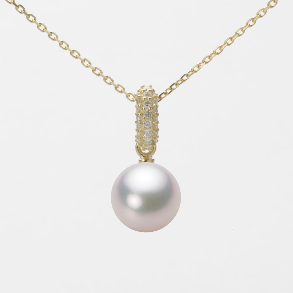 あこや真珠 パール ネックレス 8.0mm アコヤ 真珠 ペンダント K18 イエローゴールド レディース HA00080R13WPG1489Y