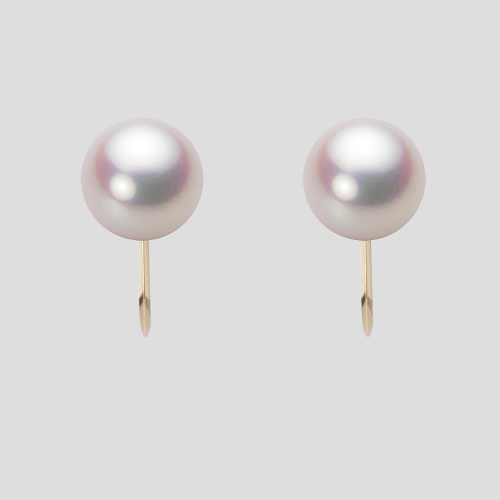 あこや真珠 パール イヤリング 8.5mm アコヤ 真珠 イヤリング K18 イエローゴールド レディース HA00085B11WPNY06Y0