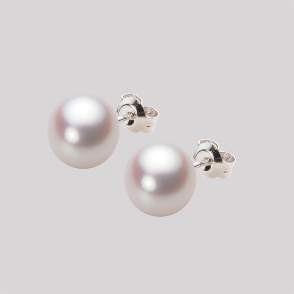 あこや真珠 パール ピアス 8.5mm アコヤ 真珠 ピアス K14WG ホワイトゴールド レディース HA00085B13WPNPA02W