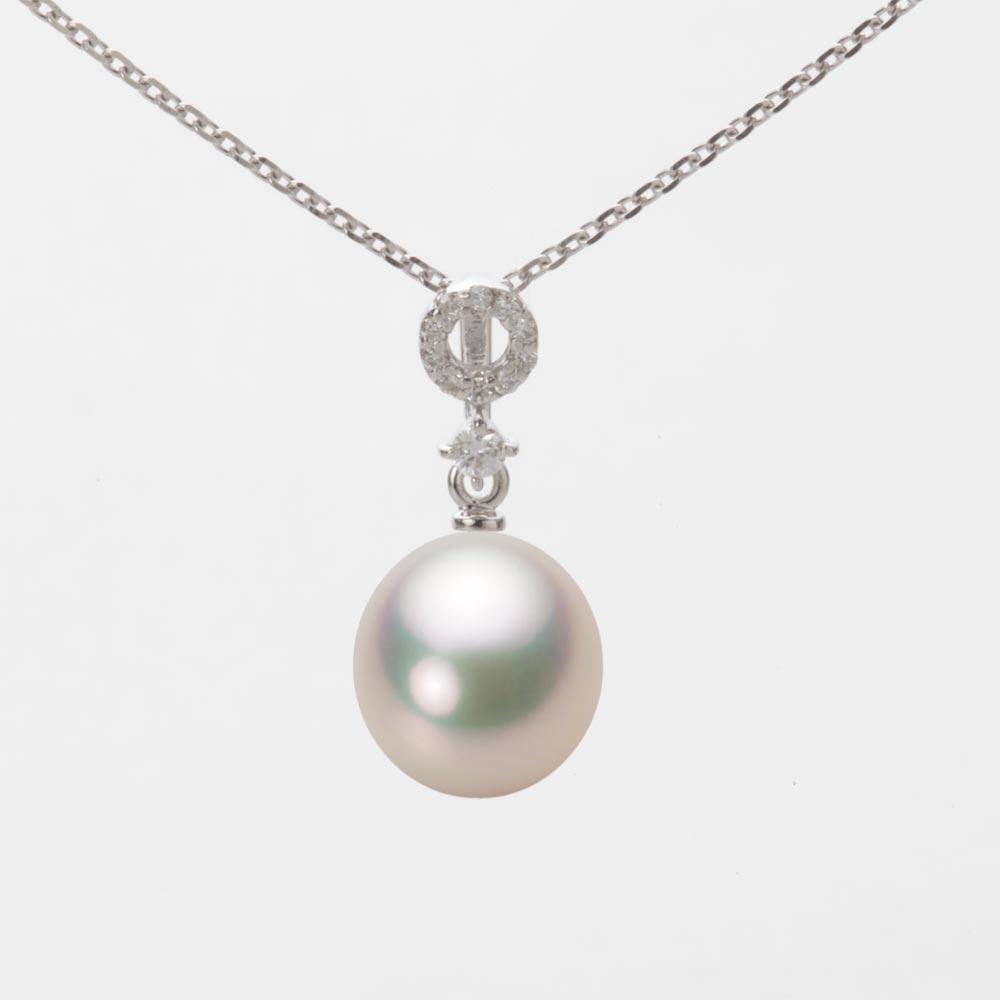 あこや真珠 パール ネックレス 8.5mm アコヤ 真珠 ペンダント K18WG ホワイトゴールド レディース HA00085D11CW01474W