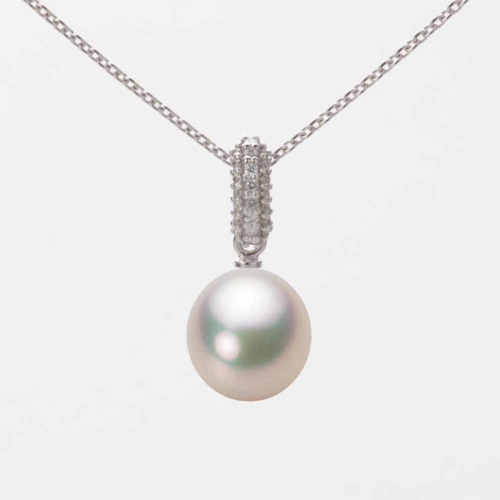 あこや真珠 パール ネックレス 8.5mm アコヤ 真珠 ペンダント K18WG ホワイトゴールド レディース HA00085D11CW01489W