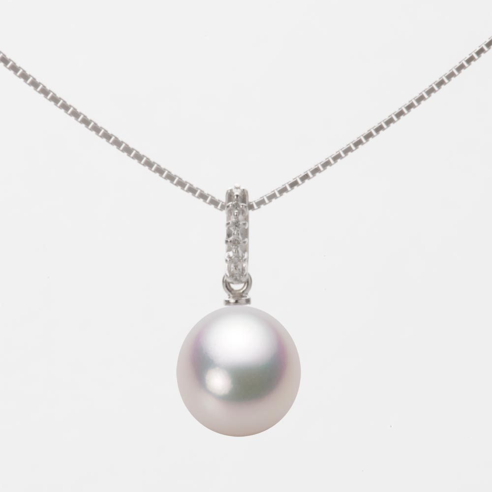 あこや真珠 パール ペンダント トップ 8.5mm アコヤ 真珠 ペンダント トップ K18WG ホワイトゴールド レディース HA00085D11WPG1495W-T