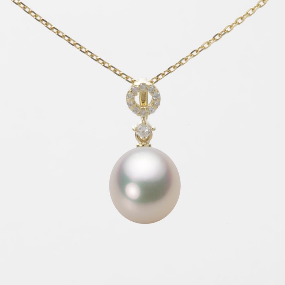 あこや真珠 パール ネックレス 8.5mm アコヤ 真珠 ペンダント K18 イエローゴールド レディース HA00085D12CW01474Y