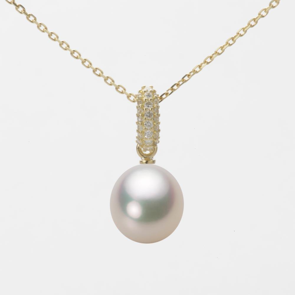 あこや真珠 パール ペンダント トップ 8.5mm アコヤ 真珠 ペンダント トップ K18 イエローゴールド レディース HA00085D12CW01489Y-T