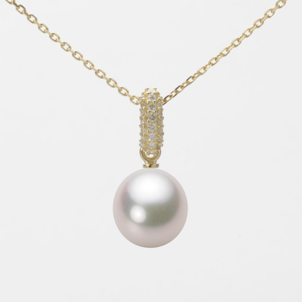 あこや真珠 パール ネックレス 8.5mm アコヤ 真珠 ペンダント K18 イエローゴールド レディース HA00085D12WPG1489Y