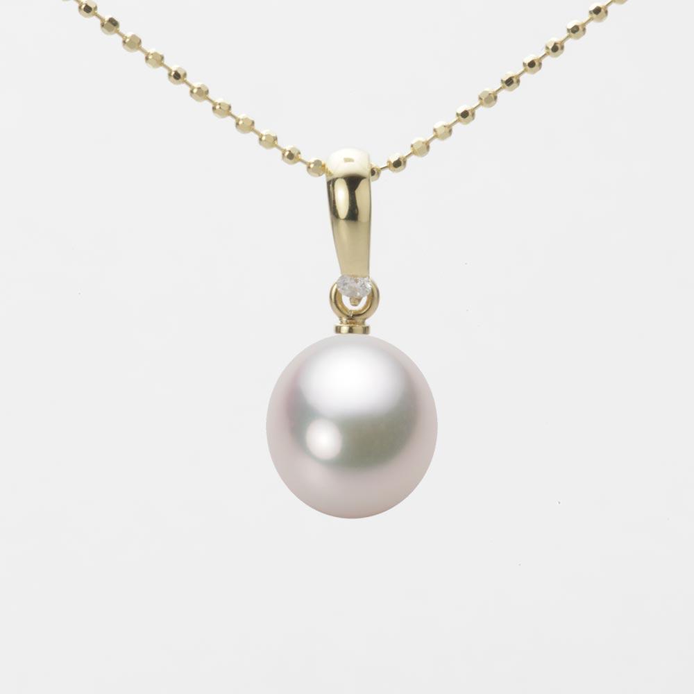 あこや真珠 パール ネックレス 8.5mm アコヤ 真珠 ペンダント K18 イエローゴールド レディース HA00085D12WPG1500Y