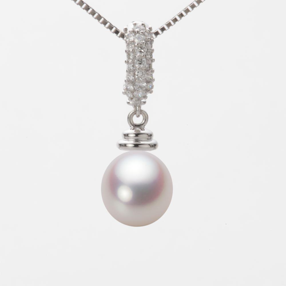 あこや真珠 パール ペンダント トップ 8.5mm アコヤ 真珠 ペンダント トップ K18WG ホワイトゴールド レディース HA00085D12WPN115W0-T