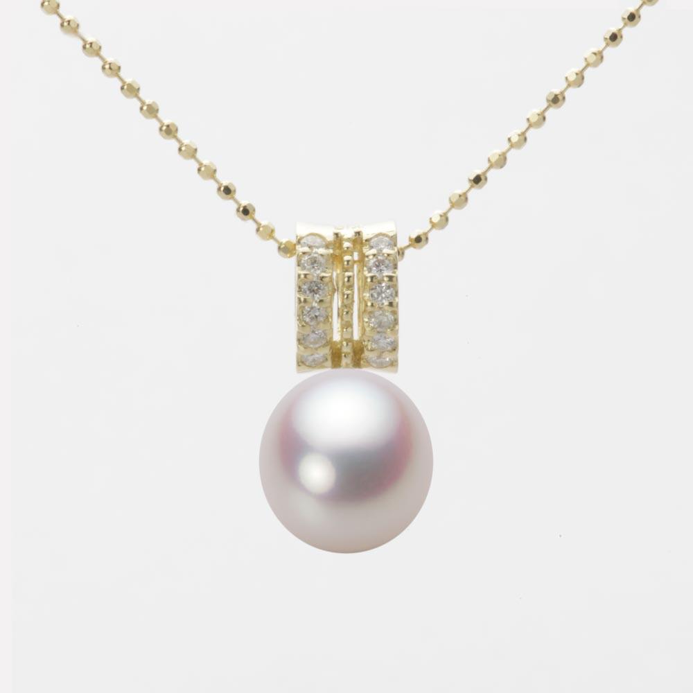 あこや真珠 パール ペンダント トップ 8.5mm アコヤ 真珠 ペンダント トップ K18 イエローゴールド レディース HA00085D12WPN1278Y-T