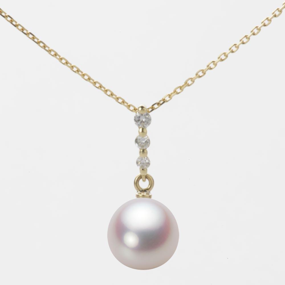 あこや真珠 パール ペンダント トップ 8.5mm アコヤ 真珠 ペンダント トップ K18 イエローゴールド レディース HA00085D12WPN797Y0-T