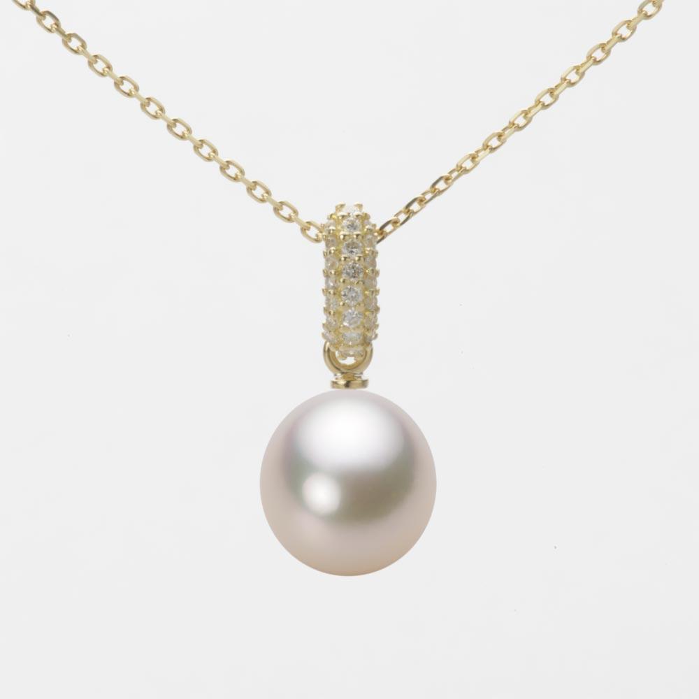 あこや真珠 パール ネックレス 8.5mm アコヤ 真珠 ペンダント K18 イエローゴールド レディース HA00085D13CW01489Y