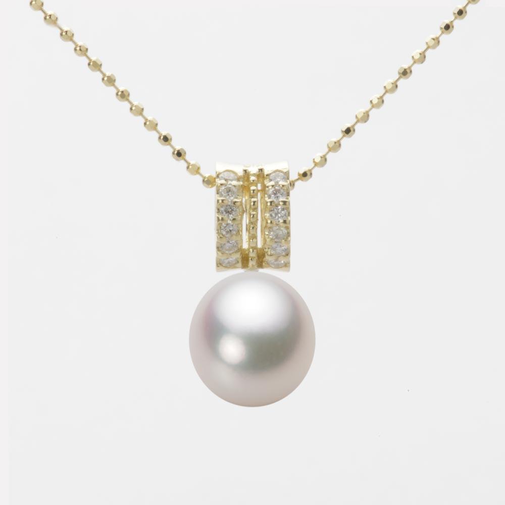 あこや真珠 パール ネックレス 8.5mm アコヤ 真珠 ペンダント K18 イエローゴールド レディース HA00085D13WPG1278Y