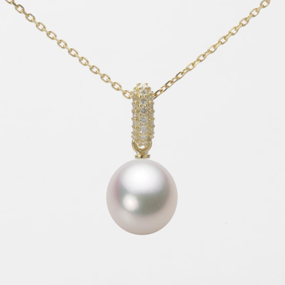 あこや真珠 パール ネックレス 8.5mm アコヤ 真珠 ペンダント K18 イエローゴールド レディース HA00085D13WPG1489Y