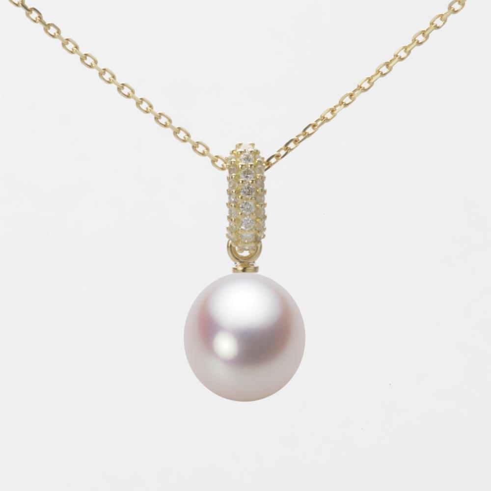 あこや真珠 パール ペンダント トップ 8.5mm アコヤ 真珠 ペンダント トップ K18 イエローゴールド レディース HA00085D13WPN1489Y-T