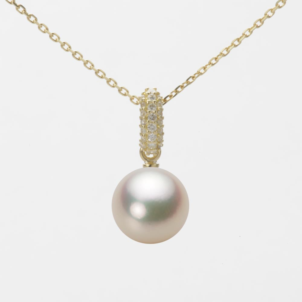 あこや真珠 パール ペンダント トップ 8.5mm アコヤ 真珠 ペンダント トップ K18 イエローゴールド レディース HA00085R11CG01489Y-T