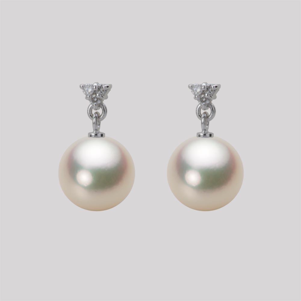 あこや真珠 パール ピアス 8.5mm アコヤ 真珠 ピアス K18WG ホワイトゴールド レディース HA00085R11CG0617W0