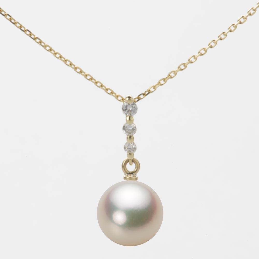あこや真珠 パール ペンダント トップ 8.5mm アコヤ 真珠 ペンダント トップ K18 イエローゴールド レディース HA00085R11CG0797Y0-T