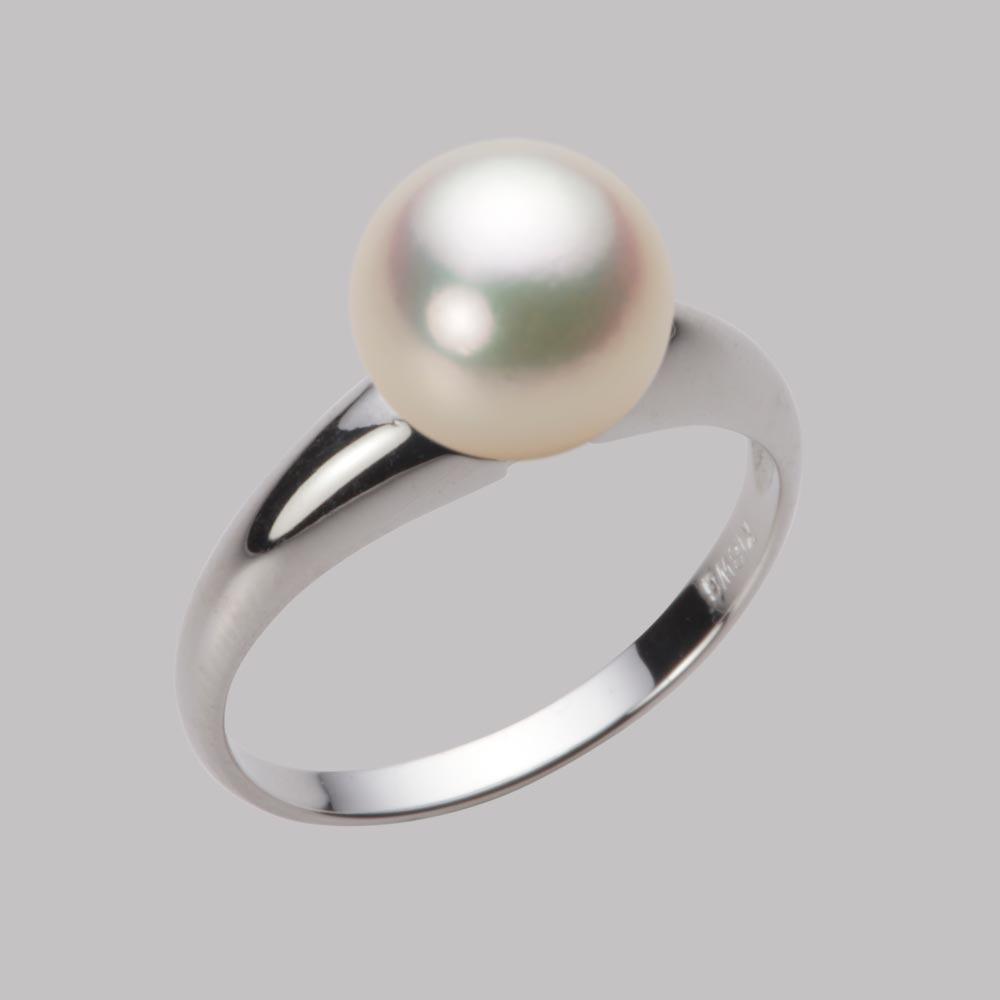 あこや真珠 パール リング 8.5mm アコヤ 真珠 リング K18WG ホワイトゴールド レディース HA00085R11CG0R02W8