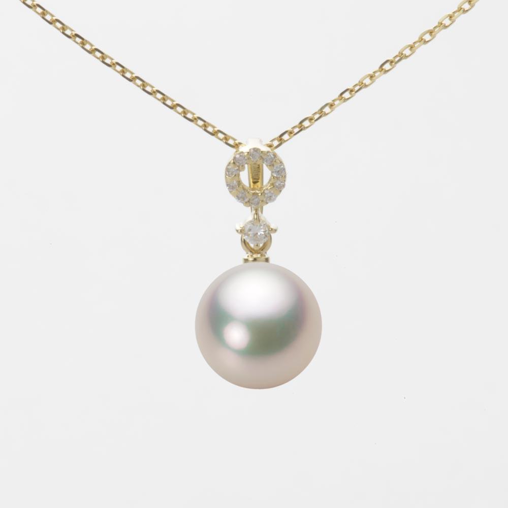 あこや真珠 パール ペンダント トップ 8.5mm アコヤ 真珠 ペンダント トップ K18 イエローゴールド レディース HA00085R11CW01474Y-T