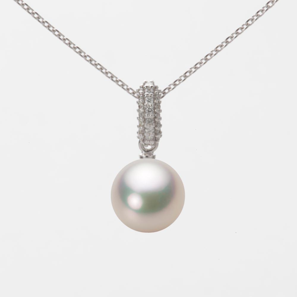 あこや真珠 パール ネックレス 8.5mm アコヤ 真珠 ペンダント K18WG ホワイトゴールド レディース HA00085R11CW01489W