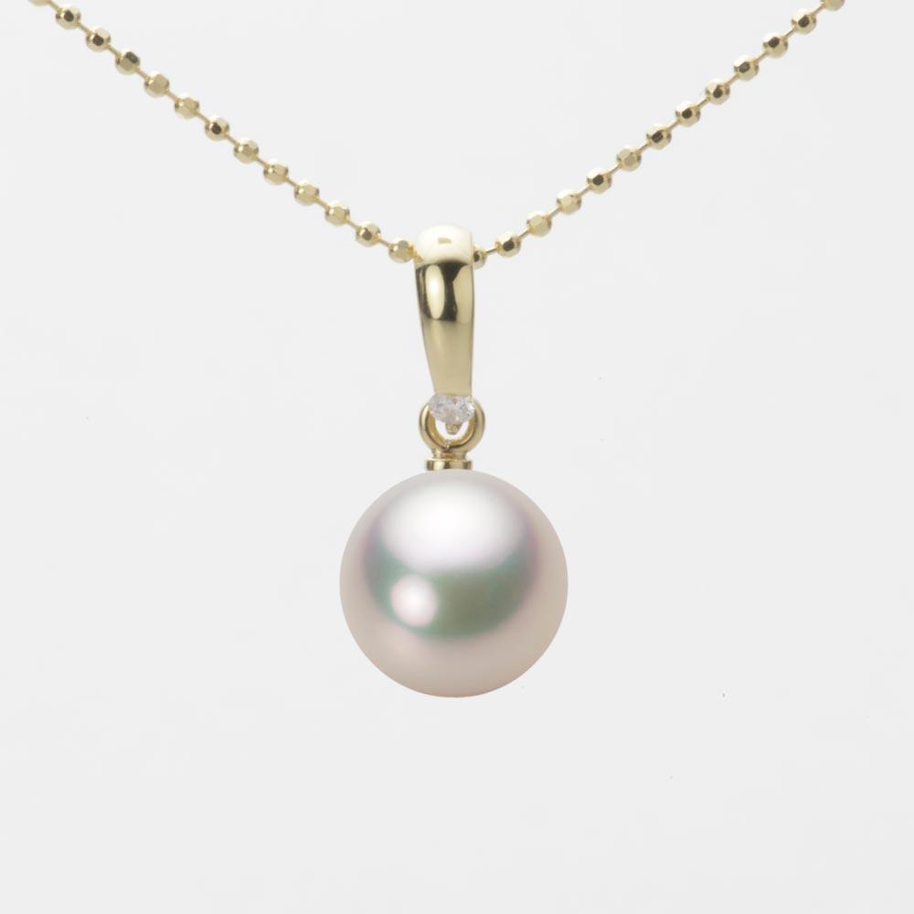 あこや真珠 パール ペンダント トップ 8.5mm アコヤ 真珠 ペンダント トップ K18 イエローゴールド レディース HA00085R11CW01500Y-T
