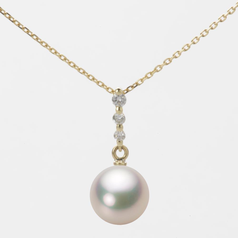 あこや真珠 パール ペンダント トップ 8.5mm アコヤ 真珠 ペンダント トップ K18 イエローゴールド レディース HA00085R11CW0797Y0-T