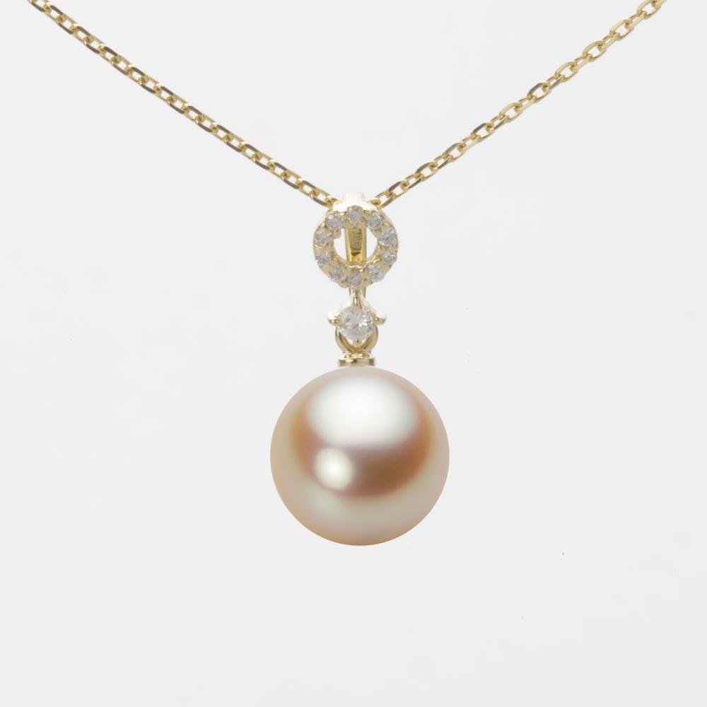 あこや真珠 パール ネックレス 8.5mm アコヤ 真珠 ペンダント K18 イエローゴールド レディース HA00085R11NG01474Y