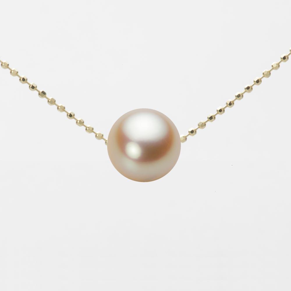 あこや真珠 パール ネックレス 8.5mm アコヤ 真珠 ペンダント K18 イエローゴールド レディース HA00085R11NG0B01YS