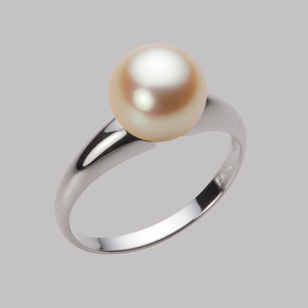 あこや真珠 パール リング 8.5mm アコヤ 真珠 リング K18WG ホワイトゴールド レディース HA00085R11NG0R02W8