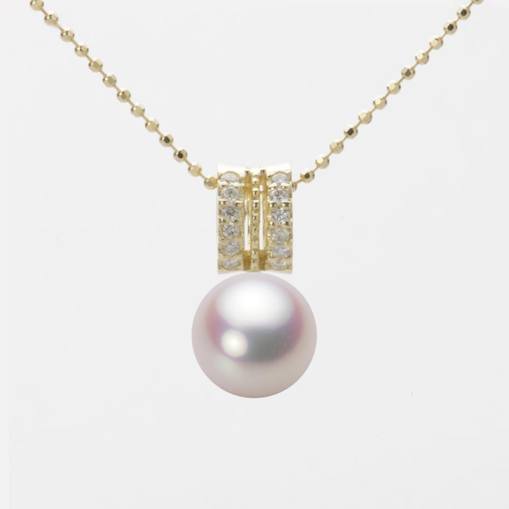 あこや真珠 パール ペンダント トップ 8.5mm アコヤ 真珠 ペンダント トップ K18 イエローゴールド レディース HA00085R11WPN1278Y-T