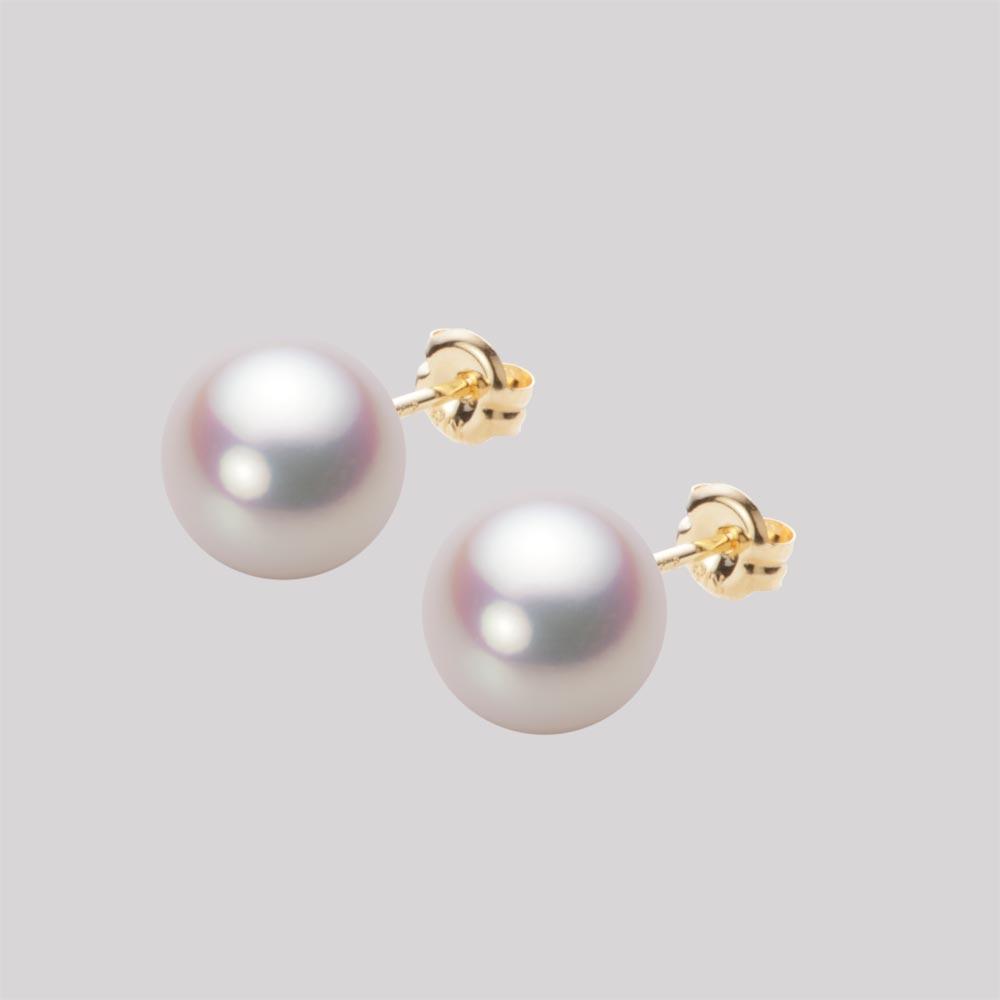 あこや真珠 パール ピアス 8.5mm アコヤ 真珠 ピアス K18 イエローゴールド レディース HA00085R11WPNPA03Y
