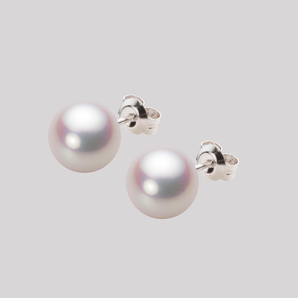 あこや真珠 パール ピアス 8.5mm アコヤ 真珠 ピアス Pt900 プラチナ レディース HA00085R11WPNPA04P