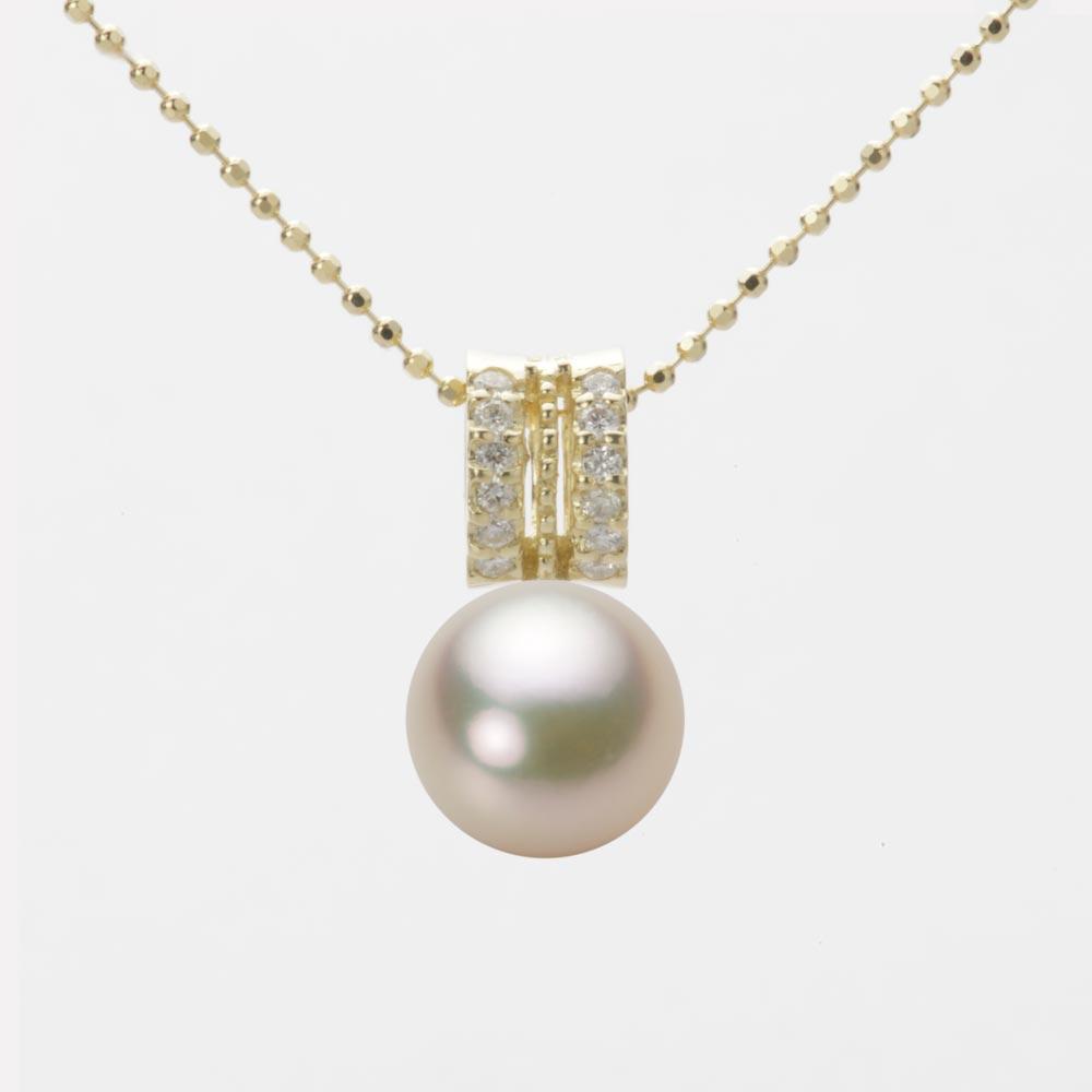 あこや真珠 パール ネックレス 8.5mm アコヤ 真珠 ペンダント K18 イエローゴールド レディース HA00085R12CG01278Y