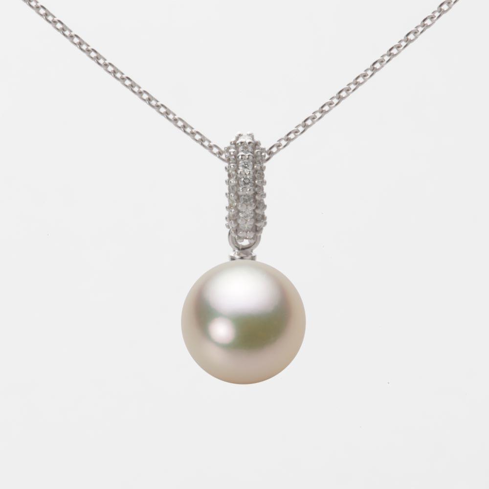 あこや真珠 パール ペンダント トップ 8.5mm アコヤ 真珠 ペンダント トップ K18WG ホワイトゴールド レディース HA00085R12CG01489W-T