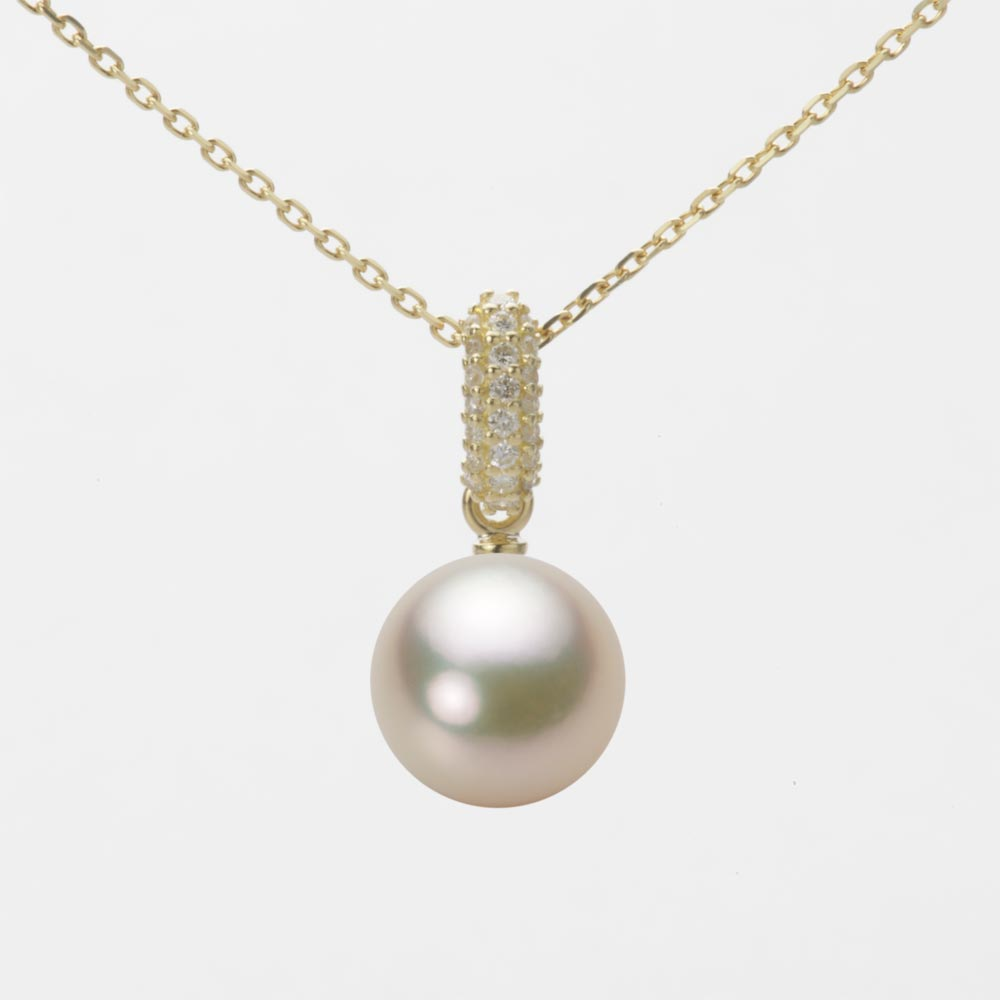 あこや真珠 パール ペンダント トップ 8.5mm アコヤ 真珠 ペンダント トップ K18 イエローゴールド レディース HA00085R12CG01489Y-T