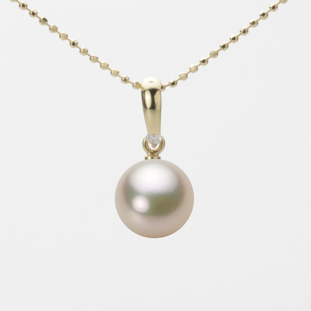 パール 8.5mm レディース ペンダント K18 イエローゴールド あこや真珠 ネックレス HA00085R12CG01500Y 真珠 アコヤ