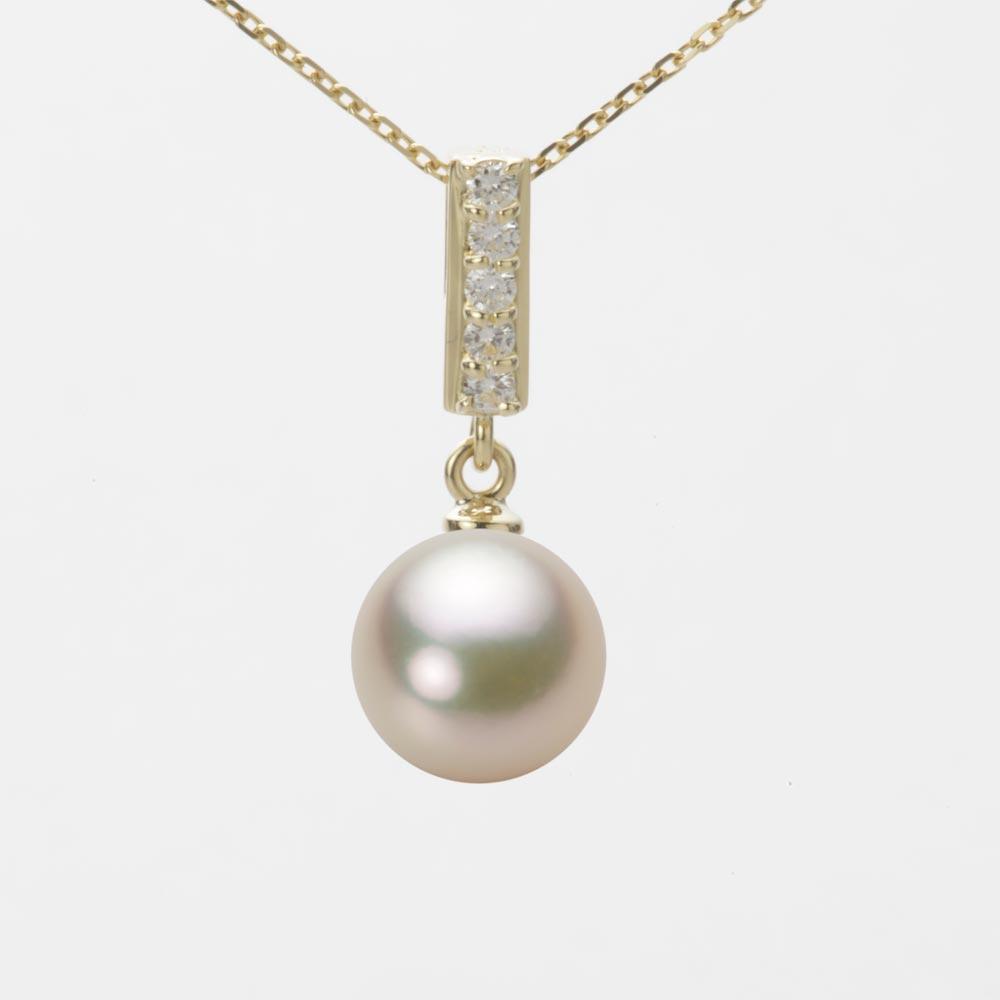 あこや真珠 パール ネックレス 8.5mm アコヤ 真珠 ペンダント K18 イエローゴールド レディース HA00085R12CG0314Y0
