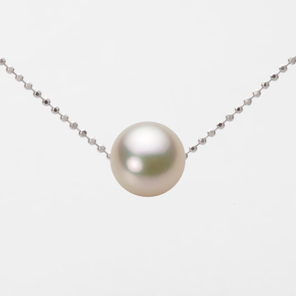 あこや真珠 パール ネックレス 8.5mm アコヤ 真珠 ペンダント K18WG ホワイトゴールド レディース HA00085R12CG0B01WS
