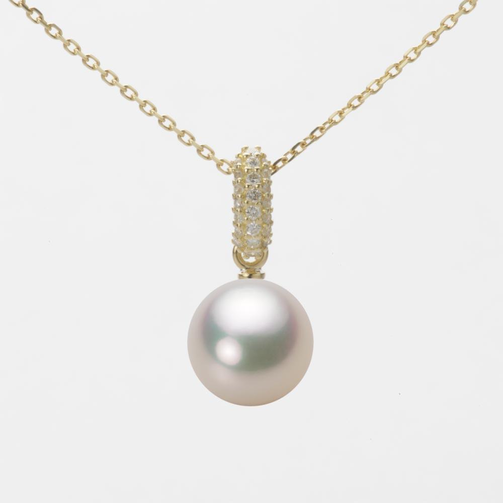 あこや真珠 パール ネックレス 8.5mm アコヤ 真珠 ペンダント K18 イエローゴールド レディース HA00085R12CW01489Y