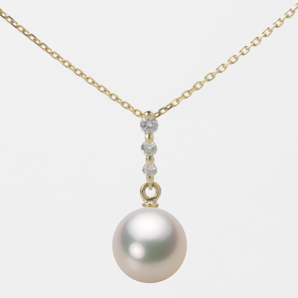 あこや真珠 パール ペンダント トップ 8.5mm アコヤ 真珠 ペンダント トップ K18 イエローゴールド レディース HA00085R12CW0797Y0-T