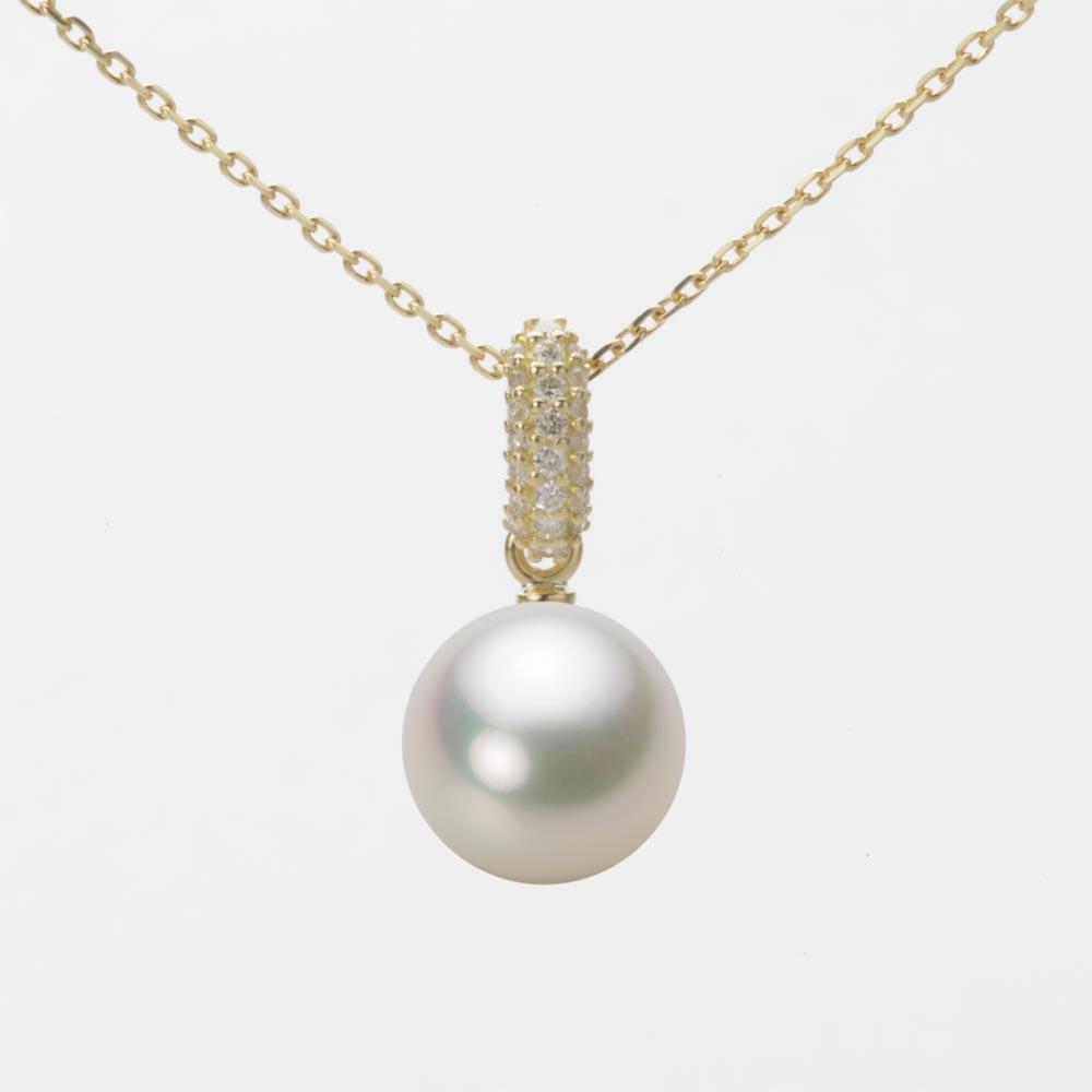 あこや真珠 パール ペンダント トップ 8.5mm アコヤ 真珠 ペンダント トップ K18 イエローゴールド レディース HA00085R12NW01489Y-T