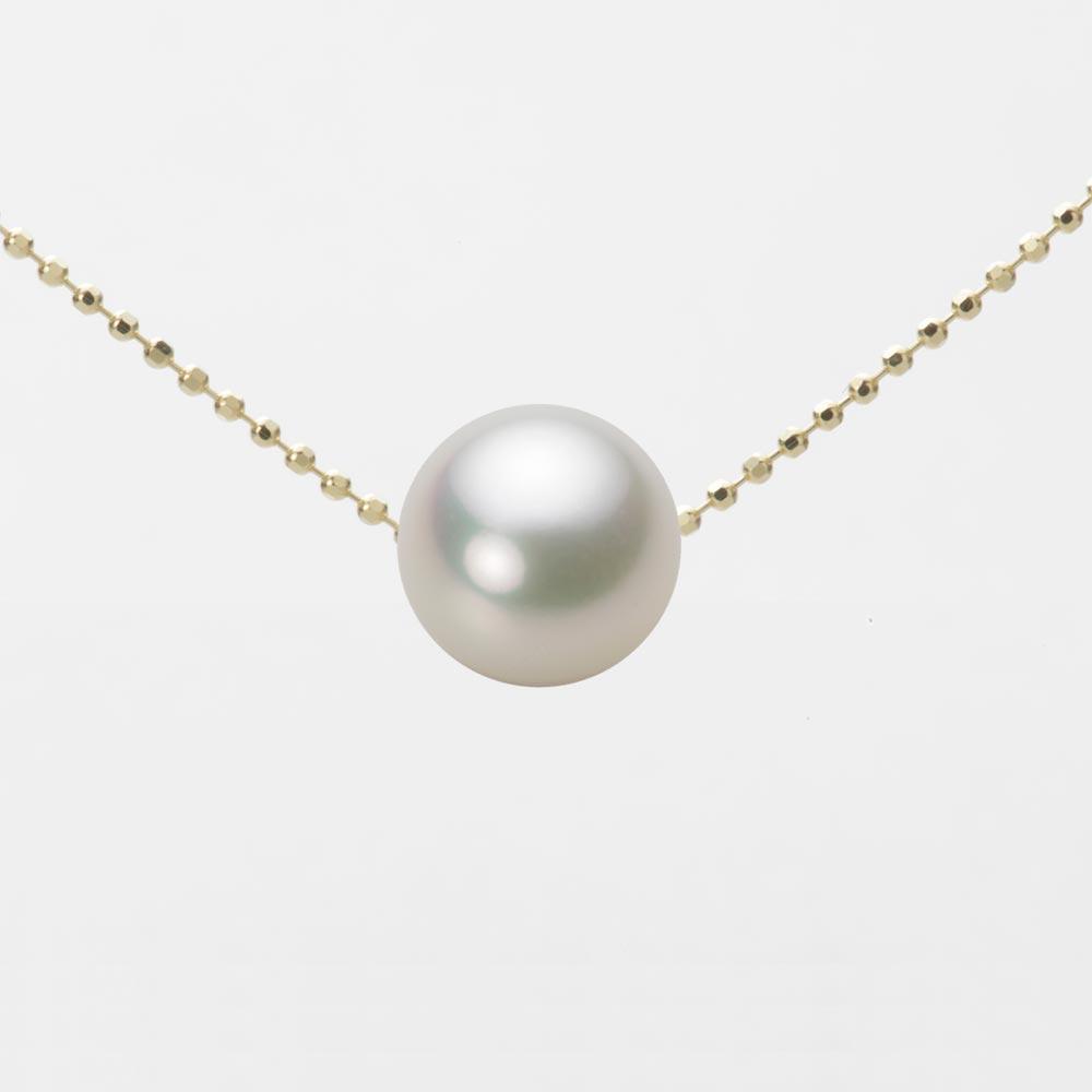 あこや真珠 パール ネックレス 8.5mm アコヤ 真珠 ペンダント K18 イエローゴールド レディース HA00085R12NW0B01YS