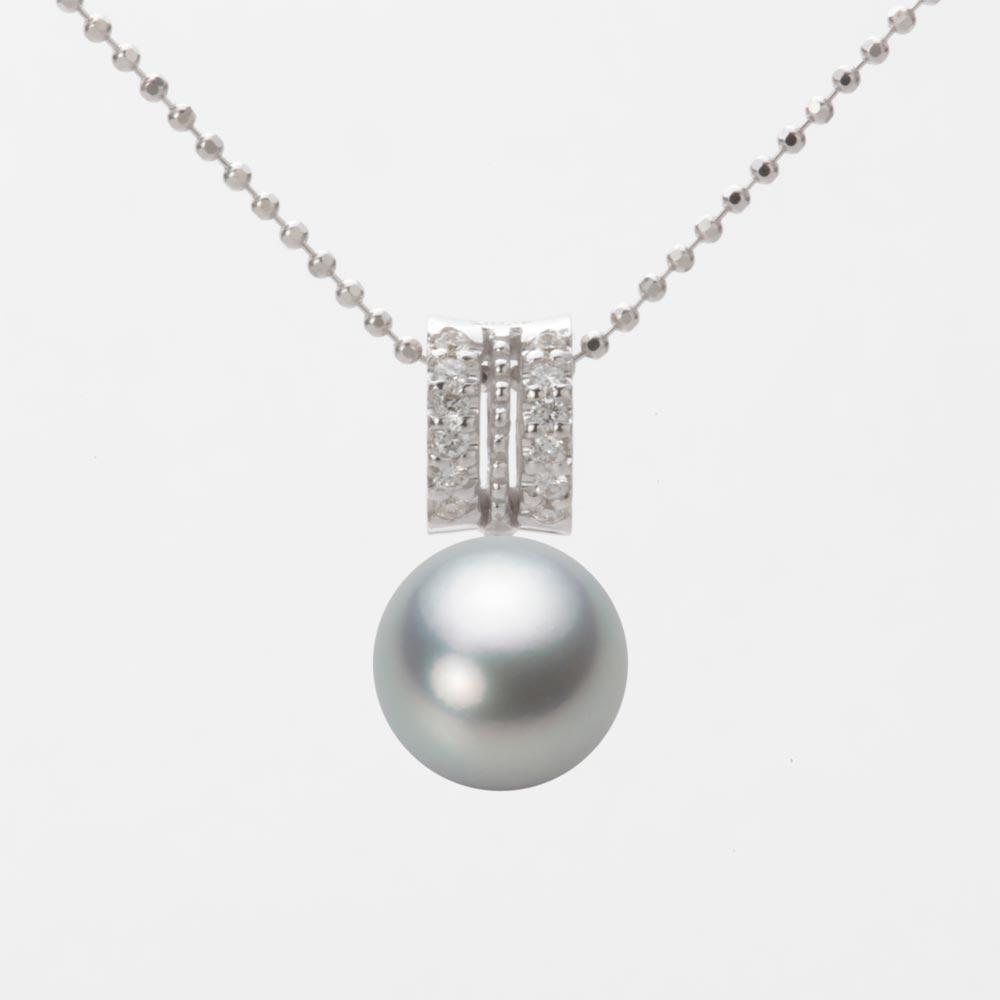 あこや真珠 パール ネックレス 8.5mm アコヤ 真珠 ペンダント K18WG ホワイトゴールド レディース HA00085R12SG01278W