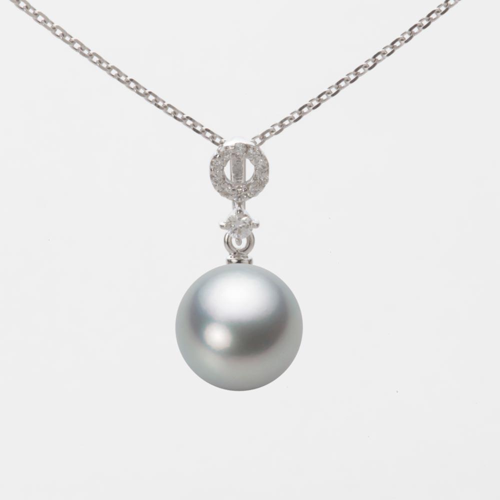 あこや真珠 パール ネックレス 8.5mm アコヤ 真珠 ペンダント K18WG ホワイトゴールド レディース HA00085R12SG01474W