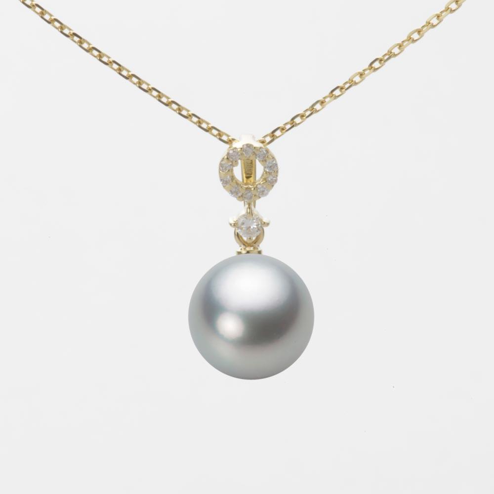 あこや真珠 パール ネックレス 8.5mm アコヤ 真珠 ペンダント K18 イエローゴールド レディース HA00085R12SG01474Y