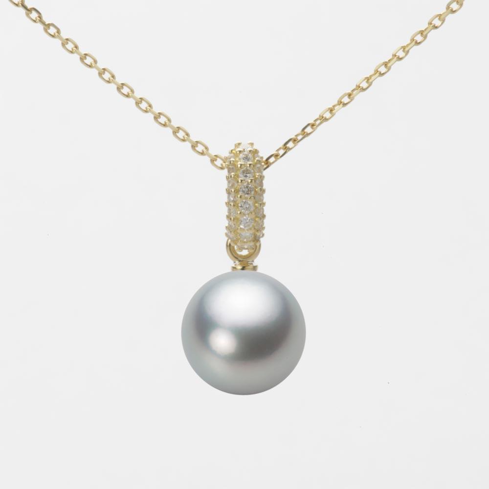 あこや真珠 パール ネックレス 8.5mm アコヤ 真珠 ペンダント K18 イエローゴールド レディース HA00085R12SG01489Y