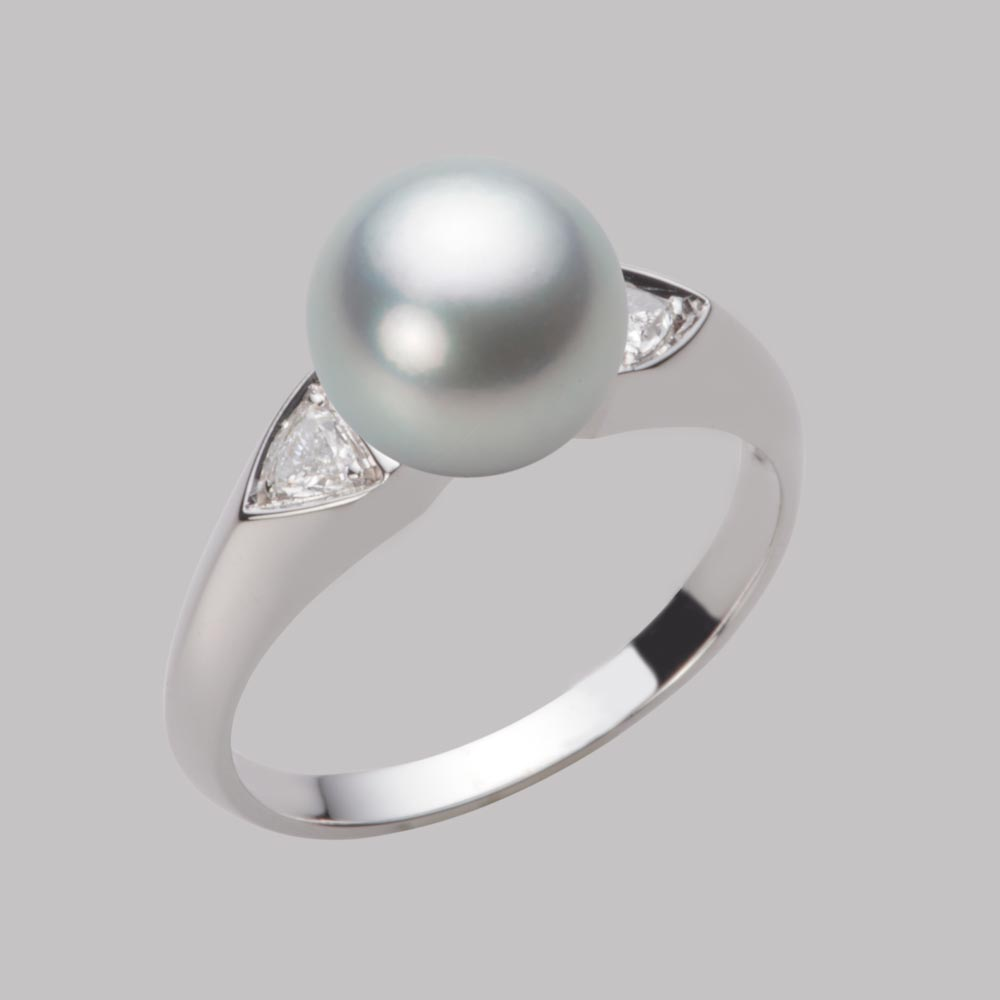あこや真珠 パール リング 8.5mm アコヤ 真珠 リング PT900 プラチナ レディース HA00085R12SG0D01P8