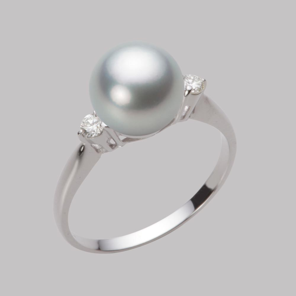 あこや真珠 パール リング 8.5mm アコヤ 真珠 リング PT900 プラチナ レディース HA00085R12SG0D02P8