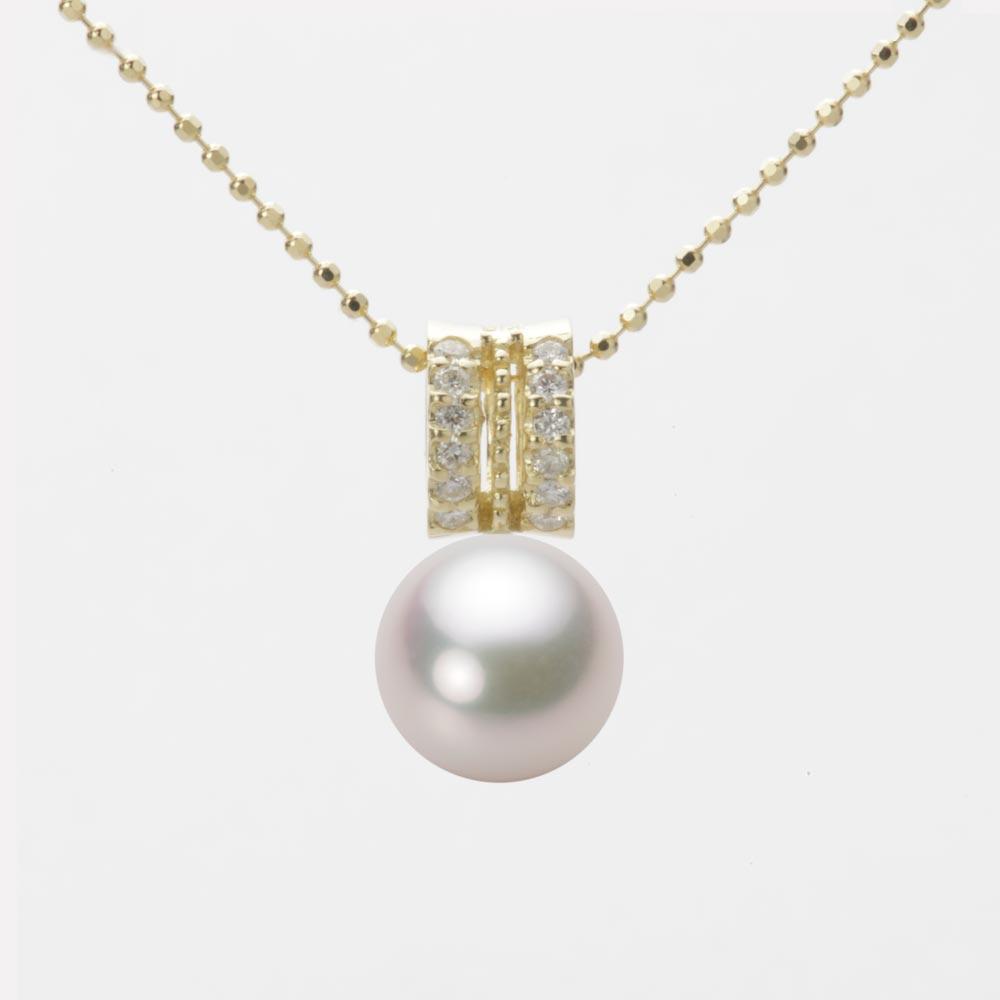真珠 あこや真珠 レディース ペンダント パール アコヤ イエローゴールド ネックレス 8.5mm K18 HA00085R12WPG1278Y