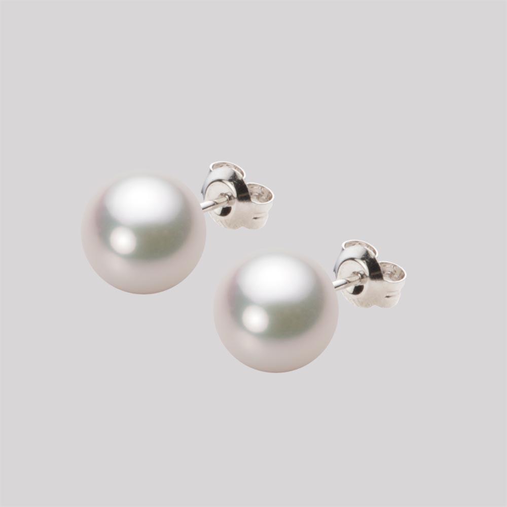 あこや真珠 パール ピアス 8.5mm アコヤ 真珠 ピアス K14WG ホワイトゴールド レディース HA00085R12WPGPA02W