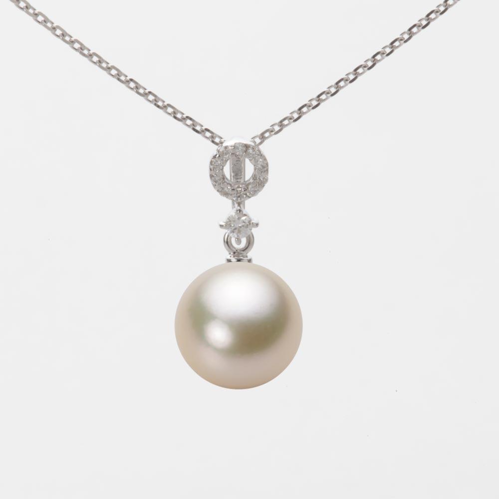 アコヤ ペンダント ホワイトゴールド 8.5mm 真珠 レディース K18WG パール ネックレス あこや真珠 HA00085R13CG01474W